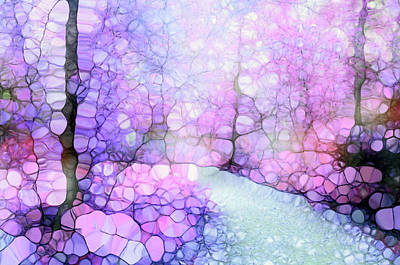 Digital Art - The Purple Path by Tara Turner