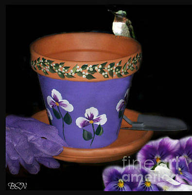 Photograph - The Purple Pot by Barbara S Nickerson