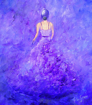 Painting - The Purple Prom by T Fry-Green