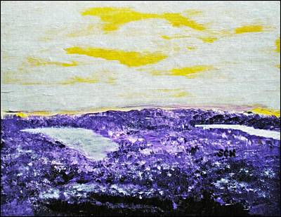 Mixed Media - The Purple Sage by Scott Haley