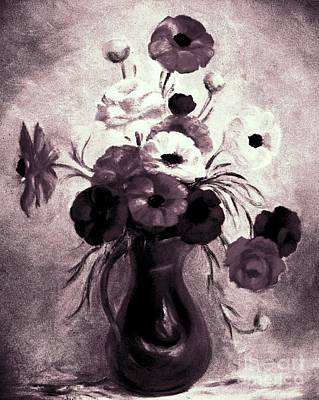 Painting - The Purple Vase by Hazel Holland