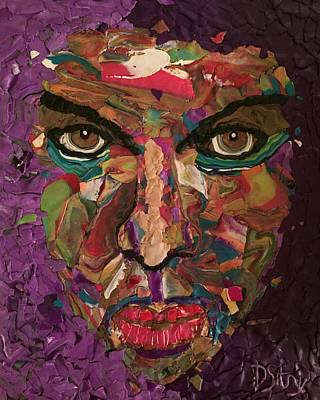 Mixed Media - The Purplest by Deborah Stanley