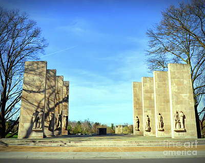 Photograph - The Pylons At War Memorial Court by Kerri Farley