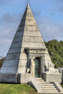 New Orleans Cemeteries Photograph - The Pyramid In Metairie Cemetery by JC Findley