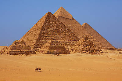 Pyramid Photograph - The Pyramids In Egypt by Dan Breckwoldt