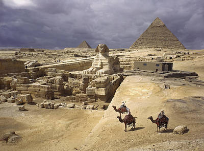 The Pyramids Of Giza And The Great Art Print