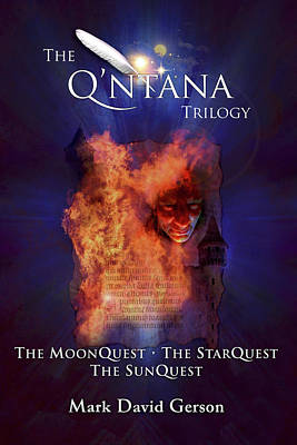 Digital Art - The Q'ntana Trilogy Book Cover by Mark David Gerson