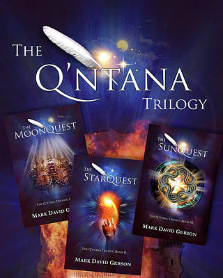 Digital Art - The Q'ntana Trilogy Triptych by Mark David Gerson