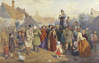 Geese Painting - The Quack Doctor, 1866 by Charles Green