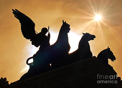 Photograph - The Quadrigas, Monument To Vittorio Emanuele II, Rome, Italy IIi by Al Bourassa