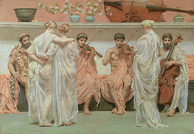 The Quartet, A Painters Tribute To Music Art Print by Albert Joseph Moore