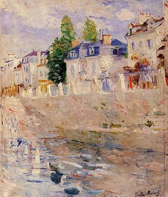 The Quay At Bougival Art Print