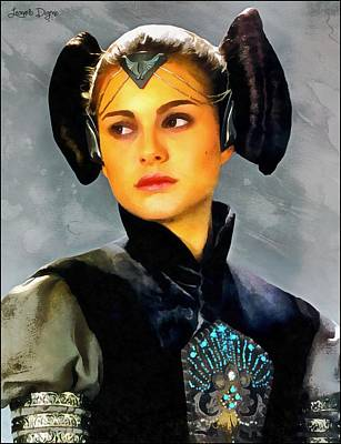 Stars Digital Art - The Queen Amidala - Da by Leonardo Digenio