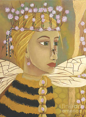 Painting - The Queen Bee's Honeycomb by Jean Fry