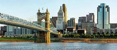 Photograph - The Queen City Panoramic - Cincinnati Skyline by Gregory Ballos