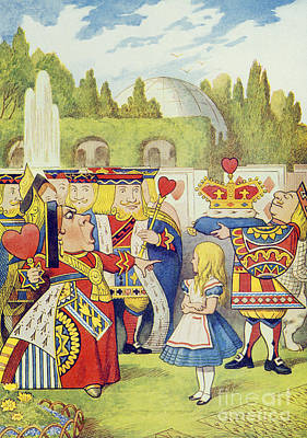 Children Book Painting - The Queen Has Come And Isnt She Angry by John Tenniel