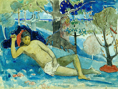 Painting - The Queen Of Beauty Or The Noble Queen by Paul Gauguin