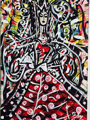 Painting - The Queen Of Hearts by Geoffrey Doig-Marx