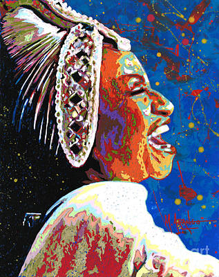 Painting - The Queen Of Salsa by Maria Arango