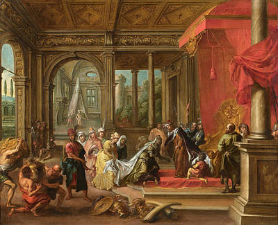 Antwerpen Painting - The Queen Of Sheba Before Solomon by Celestial Images