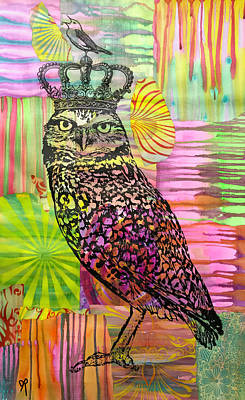 Mixed Media - The Queen Of Sparrows by Dean Russo