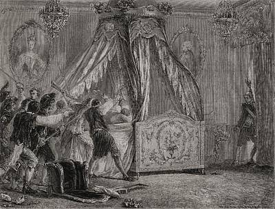 Overruns Drawing - The Queen S Bedchamber Is Overrun, 5th by Vintage Design Pics