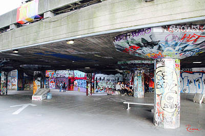 Photograph - The Queen's Skatepark by Rasma Bertz