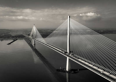 Photograph - The Queensferry Crossing by Dave Bowman