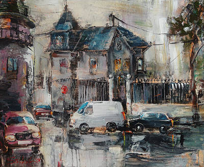 Painting - The Quiet District by Stefano Popovski