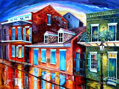 Creole Cottage Wall Art - Painting - The Quiet On Burgundy Street by Diane Millsap