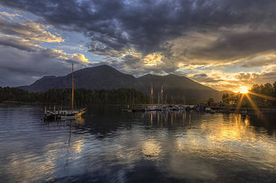 Photograph - The Quiet Sunrise - Tofino Bc by Mark Kiver