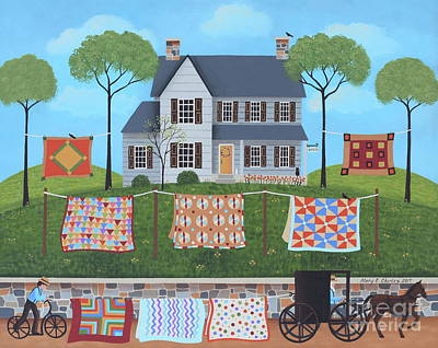 The Quilt Parade Art Print