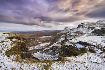 Snowy Scene Photograph - The Quiraing 1 by Rod McLean
