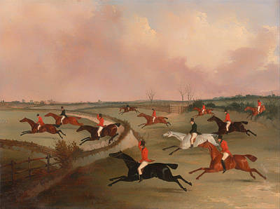 Beautiful Vistas Painting - The Quorn Hunt In Full Cry by Mountain Dreams