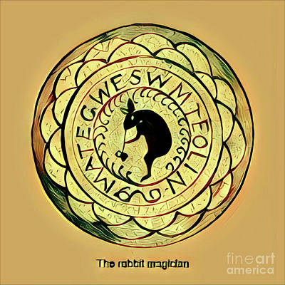 Digital Art - The Rabbit Magician by Art MacKay