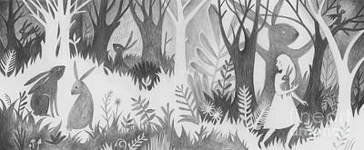 Children Book Illustration Drawing - The Rabbit Thief by Kate Cosgrove