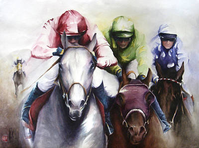 Painting - The Race by Alan Kirkland-Roath
