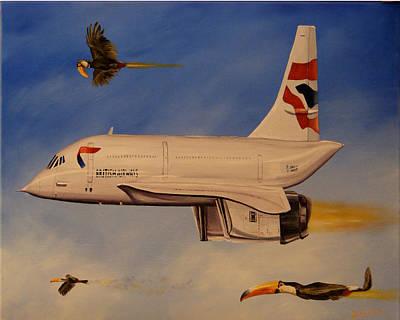 Airways Painting - The Race by Davansa Paintings
