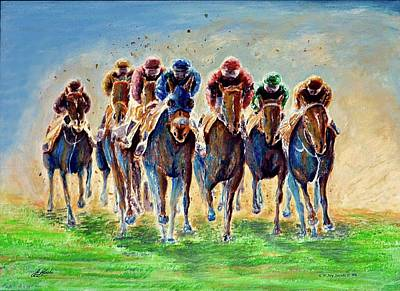 The Race Is On Art Print by G W Jay Jacobs