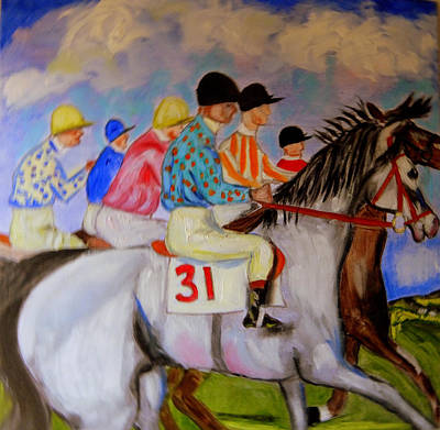 Painting - The Race by Rusty Gladdish