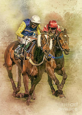 Photograph - The Race To The Post. by Brian Tarr