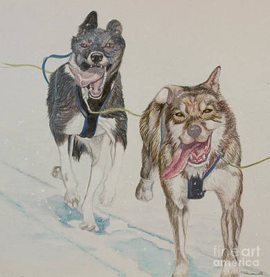 Iditarod Painting - The Race by Tracey Hunnewell