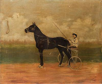 Ceramics Painting - The Racer by Celestial Images