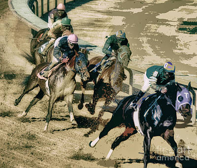 Horse Racing Photograph - The Racetrack  by Steven Digman