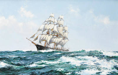 Sphere Painting -  The Racing Sky by Montague Dawson