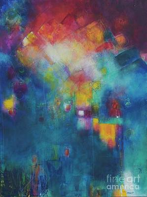 Fireworks Painting - The Radiance Of Hope by Laurie DeVault