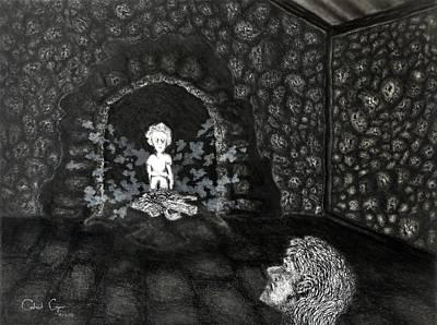 Drawing - The Radiant Boy by Gabriel Cajina