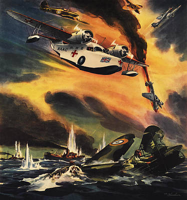 Raf Drawing - The Raf - They They May Live To Fight Again by The Baltimore and Ohio Railroad