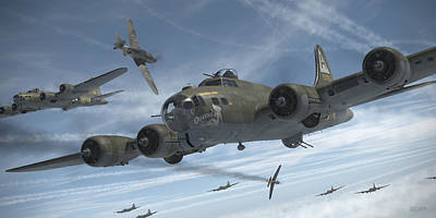 B-17 Wall Art - Digital Art - The Ragged Irregulars by Robert Perry