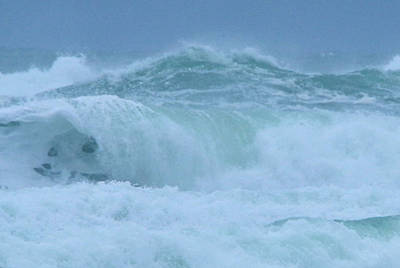 Winter Storm Photograph - The Raging Ocean by Jeff Swan